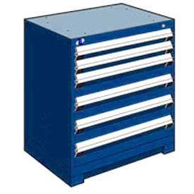 "Rousseau Metal Heavy Duty Modular Drawer Cabinet 6 Drawer Bench High 30""W - Avalanche Blue"