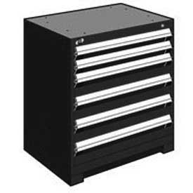"Rousseau Metal Heavy Duty Modular Drawer Cabinet 6 Drawer Bench High 30""W - Black"