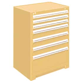 "Rousseau Metal Heavy Duty Modular Drawer Cabinet 7 Drawer Counter High 30""W - Beige"