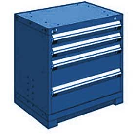 """Rousseau Metal Heavy Duty Modular Drawer Cabinet 4 Drawer Bench High 30""""W - Avalanche Blue"""