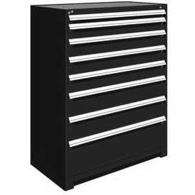 "Rousseau Metal Heavy Duty Modular Drawer Cabinet 8 Drawer Full Height 48""W - Black"