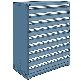 "Rousseau Metal Heavy Duty Modular Drawer Cabinet 9 Drawer Full Height 48""W - Everest Blue"