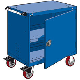"Rousseau Metal Heavy-Duty Mobile Modular Drawer Cabinet - 30""Wx21""Dx37-1/2""H Avalanche Blue"