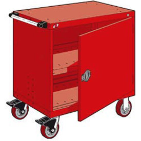 "Rousseau Metal Heavy-Duty Mobile Modular Drawer Cabinet - 30""Wx21""Dx37-1/2""H Red"