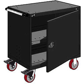 "Rousseau Metal Heavy-Duty Mobile Modular Drawer Cabinet - 30""Wx21""Dx37-1/2""H Black"
