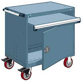 "Rousseau Metal Heavy-Duty Mobile Modular Drawer Cabinet - 30""Wx27""Dx37-1/2""H Everest Blue"