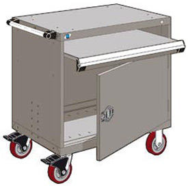 "Rousseau Metal Heavy-Duty Mobile Modular Drawer Cabinet - 36""Wx18""Dx37-1/2""H Light Gray"