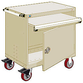 "Rousseau Metal Heavy-Duty Mobile Modular Drawer Cabinet - 36""Wx24""Dx37-1/2""H Beige"