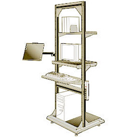 "Computer Multi-purpose Stand - 32""Wx27""Dx85""H Beige"