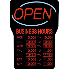 Buy Royal Sovereign LED Open Sign W/Hours