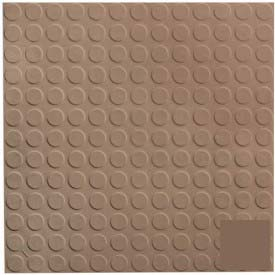Rubber Tile Low Profile Circular Design 50cm - Toffee