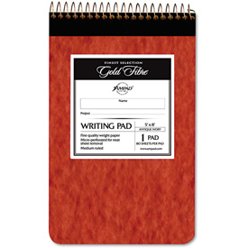 "Ampad® Gold Fibre Retro Writing Pad 20007, 5"" x 8"", Antique Ivory, 80-Sheets/Pad, 1/Pack"