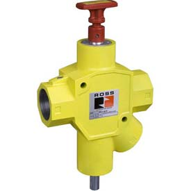 "ROSS Manual Pneumatic Lockout Valve Y1523C9012, 2"" NPT by"