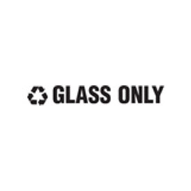 "Recycling Decals ""Glass Only"" - White 1""H X 8""W Pkg Qty 10 - Pkg Qty 10"