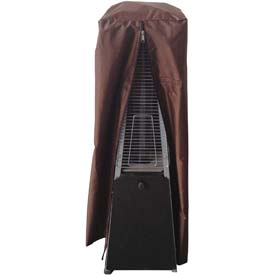 "Hiland Patio Heater Cover HVD-GTTCV-M Waterproof Heavy Duty Glass Tube 20"" Dia. 38""H Mocha"
