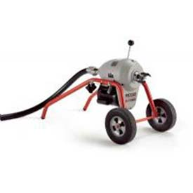 "RIDGID K-1500 B Frame W/Tool Set & Mitt, 115V, 710RPM, 3/4HP, 1-1/4"", 105'L x 1-1/4""W Cable by"