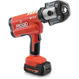 """Ridgid 31028 RP 210 Battery Press Tool Kit w/ProPress Jaws For 1⁄2"""" to 1-1⁄4"""" Copper & Stainless"""