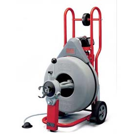 "RIDGID K-750 Drum Machine W/Tool Set, Autofeed & Gloves, 5/8"" Std Equip, 100'L x 5/8""W Cables by"