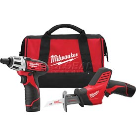 Milwaukee® 2490-22 M12™ Cordless 2 Tool Combo Kit