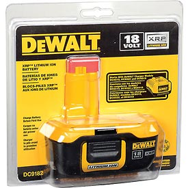 DeWALT® DC9182 18 Volt XRP™ Li-Ion Battery