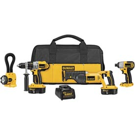 DeWALT® DCK455X XRP™ 18V Cordless 4-Tool Combo Kit, w/ Reciprocating Saw