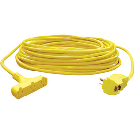 U.S. Wire 50028 100 Ft. Triple Outlet Pow-R-Block w/ GFCI Plug, 12/3 Ga. SJTW-A, 15A