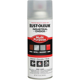 Click here to buy Rust-Oleum Industrial 1600 System Gen Purpose Enamel Aerosol, Crystal Clear, 12 oz. 1610830 Package Count 6.