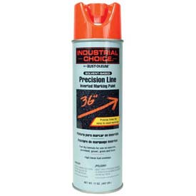 Rust-Oleum M1600 Solvent-Based Precision-Line Inverted Marking Paint Aerosol, Fluor. Red - Pkg Qty 12