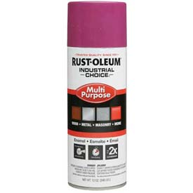 Rust-Oleum Industrial 1600 System General Purpose Enamel Aerosol, Safety Purple, 12 oz. - 1670830 - Pkg Qty 6