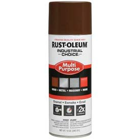 Rust-Oleum Industrial 1600 System General Purpose Enamel Aerosol, Leather Brown, 12 oz. - 1674830 - Pkg Qty 6