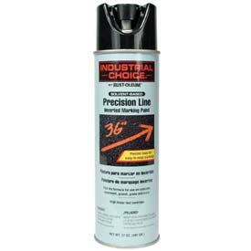 Rust-Oleum M1600 System Solvent-Based Precision-Line Inverted Marking Paint Aerosol, Blk - Pkg Qty 12