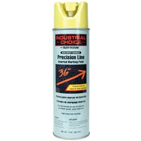 Rust-Oleum M1600 Solvent-Based Precision-Line Inverted Marking Paint Aero, High Vis.Yel - Pkg Qty 12