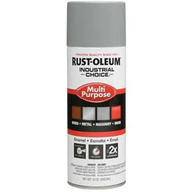 Rust-Oleum Industrial 1600 System Gen Purpose Enamel Aerosol, Ansi 61 Light Gray, 12 oz. - 214645 - Pkg Qty 6