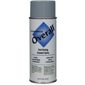 Rust-Oleum Overall Economical Enamel Aerosol, Light Gray, 10 oz. - 215409 - Pkg Qty 6