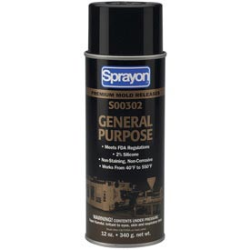 Sprayon MR302 General Purpose Release Agent, 12 oz. Aerosol Can - SC0302000 - Pkg Qty 12