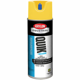 Krylon Industrial Quik-Mark Wb Inverted Mkg Paint Apwa Brilliant Yellow - S03402 - Pkg Qty 12