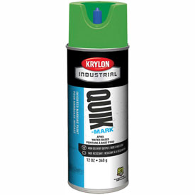 Krylon Industrial Quik-Mark Wb Inverted Marking Paint Apwa Brilliant Green - A03407004 - Pkg Qty 12