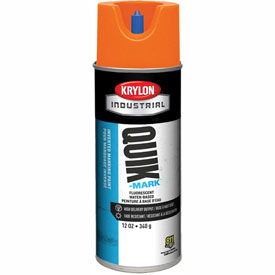 Krylon Industrial Quik-Mark Wb Inverted Marking Paint Fluorescent Orange - A03408004 - Pkg Qty 12