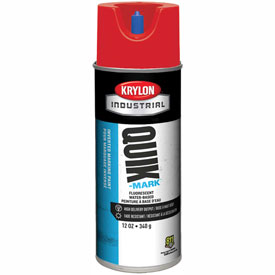 Krylon Industrial Quik-Mark Wb Inverted Marking Paint Fluorescent Red - A03409004 - Pkg Qty 12