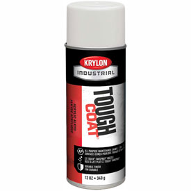 Krylon Industrial Tough Coat Acrylic Enamel Flat White - A03720007 - Pkg Qty 12