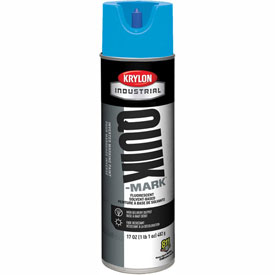 Krylon Industrial Quik-Mark Sb Inverted Marking Paint Fluorescent Blue - A03722007 - Pkg Qty 12