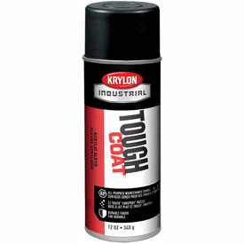 Krylon Industrial Tough Coat Acrylic Enamel Max Flat Black - S03727 - Pkg Qty 12