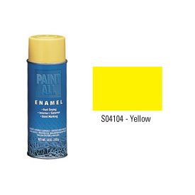 Krylon Industrial Paint-All Enamel Paint Yellow - S04104 - Pkg Qty 12