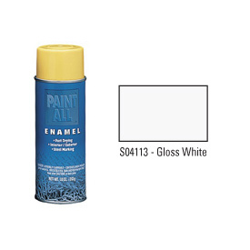 Krylon Industrial Paint-All Enamel Paint Gloss White - S04113 - Pkg Qty 12