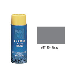 Krylon Industrial Paint-All Enamel Paint Gray - S04115 - Pkg Qty 12