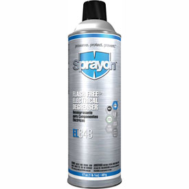 Sprayon EL848 Flash Free Electrical Degreaser, 20 oz. Aerosol - s20848000 - Pkg Qty 12