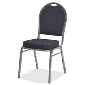 Lorell Upholstered Cushion Stacking Chairs, 120 Chairs, LLR62518, Blue, 4/PK - Pkg Qty 30