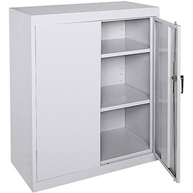 Sandusky Classic Series Counter Height Storage Cabinet CA21362442-05 - 36x24x42, Gray