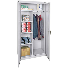"Sandusky Classic Combination Storage Cabinet CAC1362472-05 - 36""W x 24""D x 72""H Dove Gray"