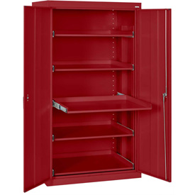 Sandusky Pull-Out Tray Shelf Storage Cabinet ET52362466 - 36x24x66, Red